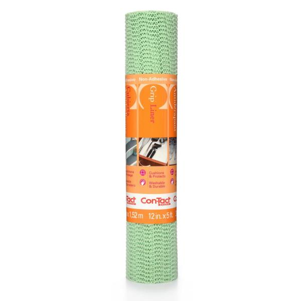 Con-Tact Grip Liner 12 in. x 5 ft. Sage Non-Adhesive Grip