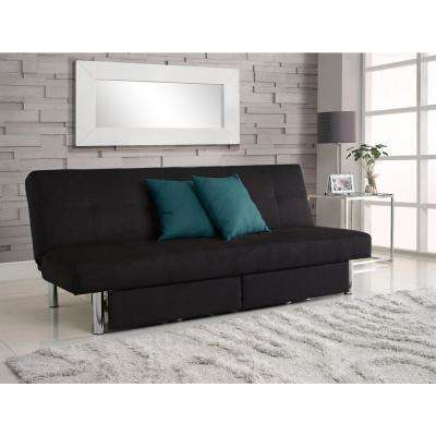 Black Sola Sleeper And Storage Futon