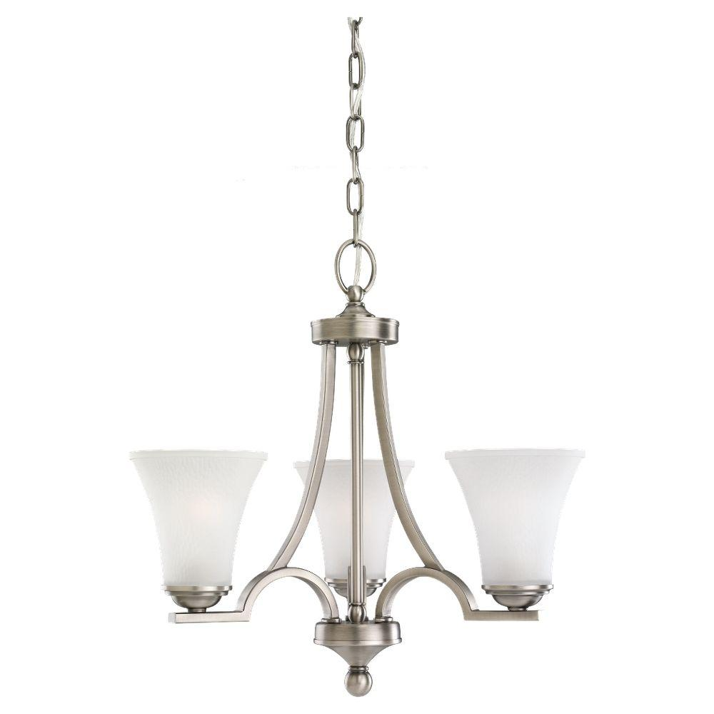 Sea Gull Lighting Somerton 3-Light Antique Brushed Nickel Single-Tier Chandelier