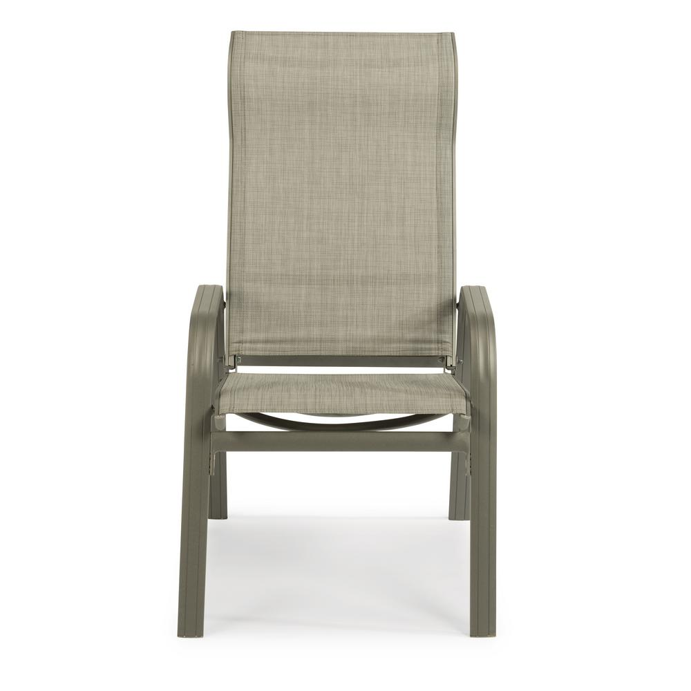 Daytona Charcoal Gray Aluminum Outdoor Dining Chair (2-Pack)
