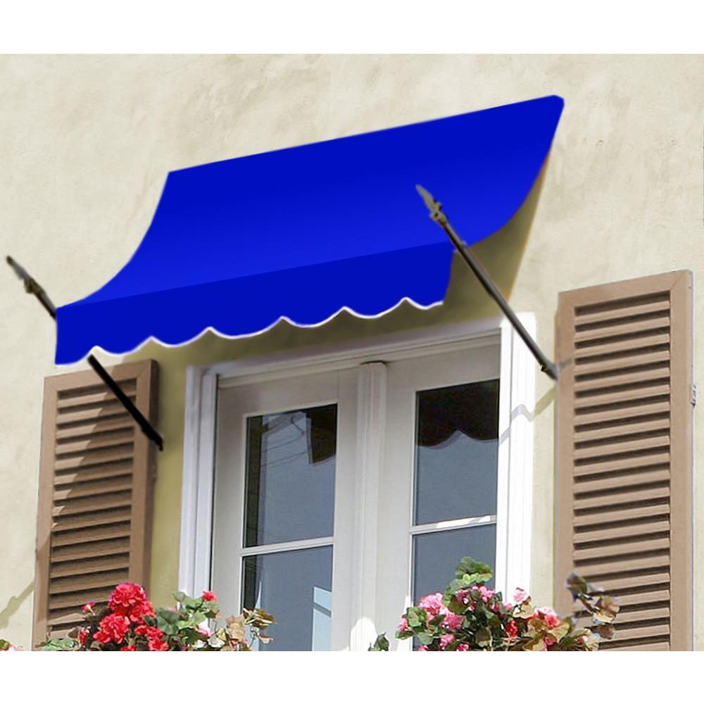 AWNTECH 50 ft. New Orleans Awning (44 in. H x 24 in. D) in Bright Blue