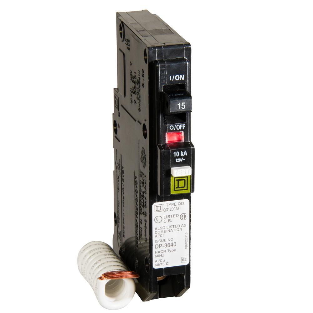 QO 15 Amp Single-Pole Combination Arc Fault Circuit Breaker