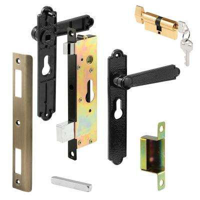 Single Cylinder Black Brass Security Door Mortise Lock