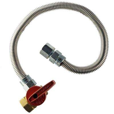 1/2 in.  FIP x 1/2 in.  FIP Angle Valve x 30 in.  Heater Connector 3/8 in O.D.
