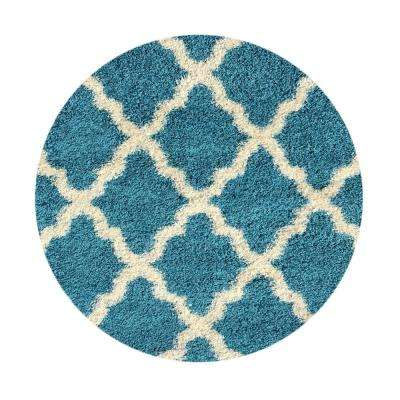 Bella Collection Turquoise 5 Ft. X 5 Ft. Round Area Rug