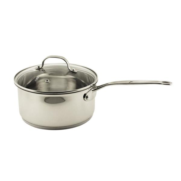 BergHOFF EarthChef Stainless Steel 3 Qt. Glass Covered Saucepan
