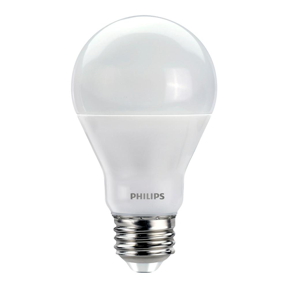 philips 60w equivalent soft white with warm glow a19 dimmable led light bulb 16 pack 465245. Black Bedroom Furniture Sets. Home Design Ideas