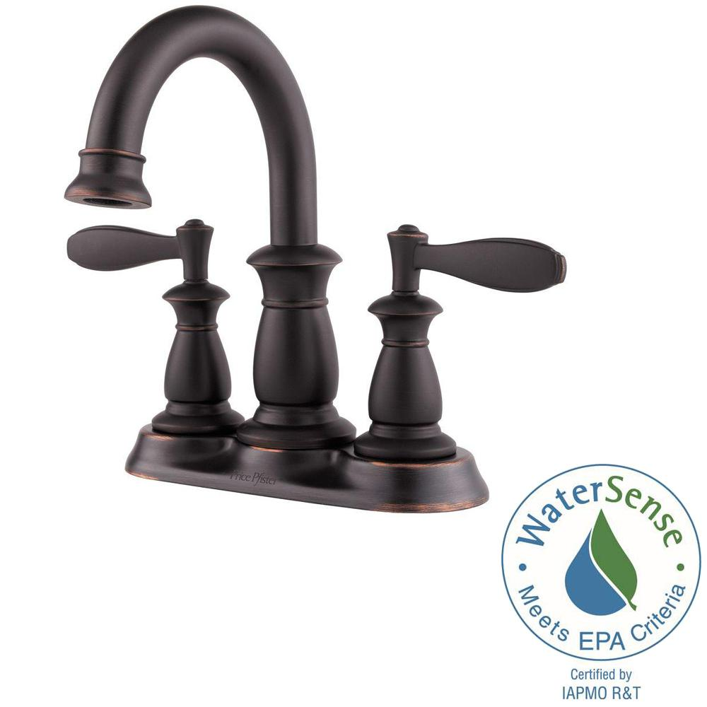 Pfister Ladera 4 in. Centerset Single-Handle Bathroom Faucet in ...