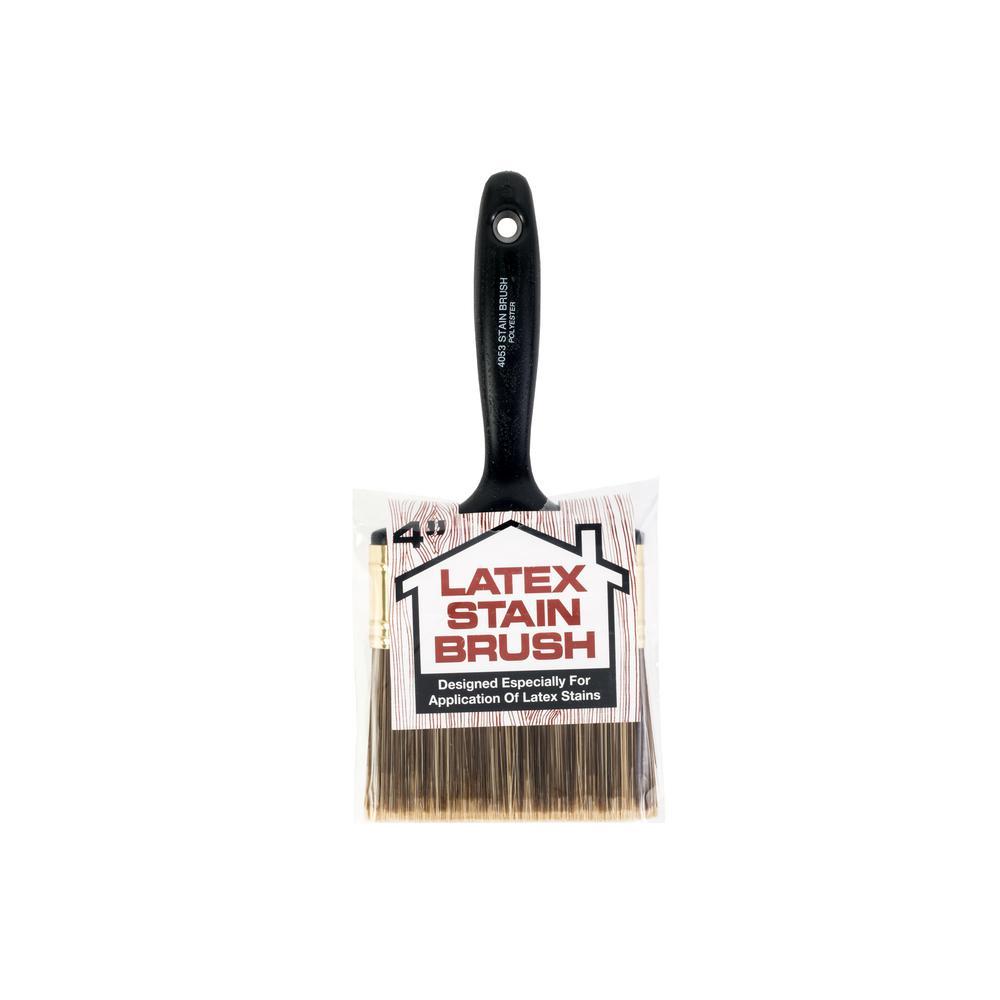 4 in. Flat Latex Stain Brush