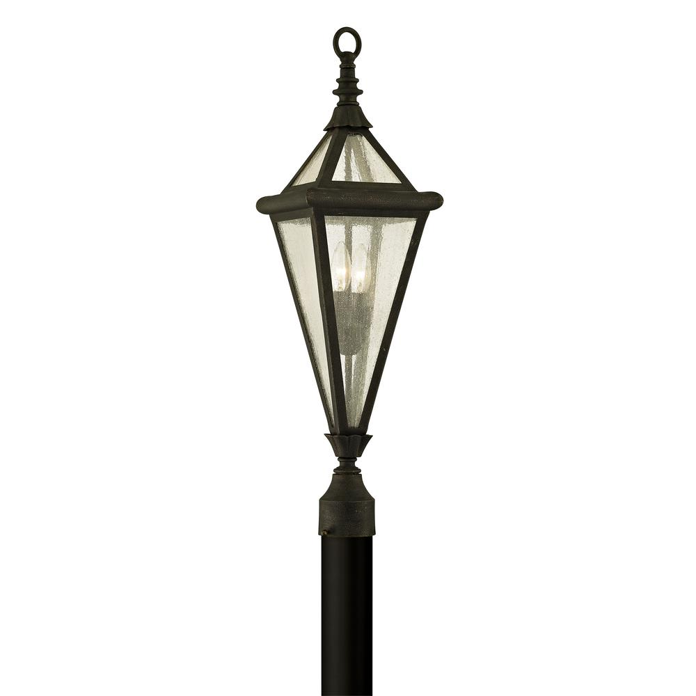 Geneva 2-Light Vintage Bronze 29 in. H Outdoor Post Light with
