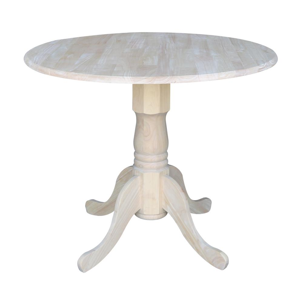 InternationalConcepts International Concepts Unfinished Dual Drop Leaf Dining Table