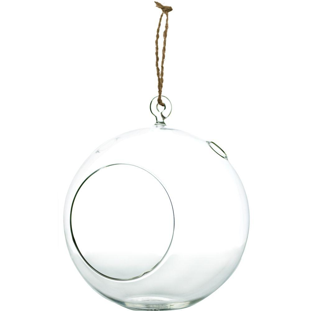 Pride Garden Products Mika 7 In X 8 In Glass Hanging Globe