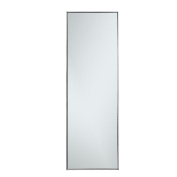 Large Rectangle Silver Modern Mirror (60 in. H x 20 in. W)