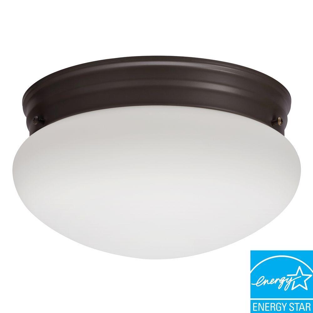Essentials 1-Light Bronze Fluorescent Ceiling Light