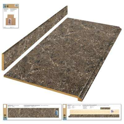 Laminate countertop kit in breccia with premium antique finish and valencia edge