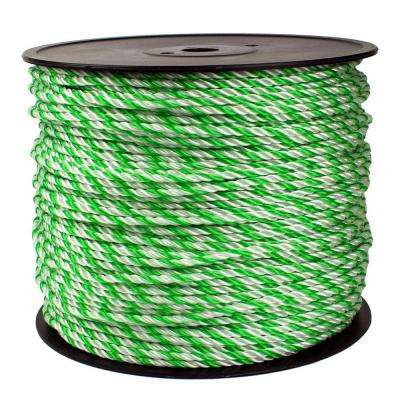 1/4 in. x 1200 ft. Twisted Rope, Green/White