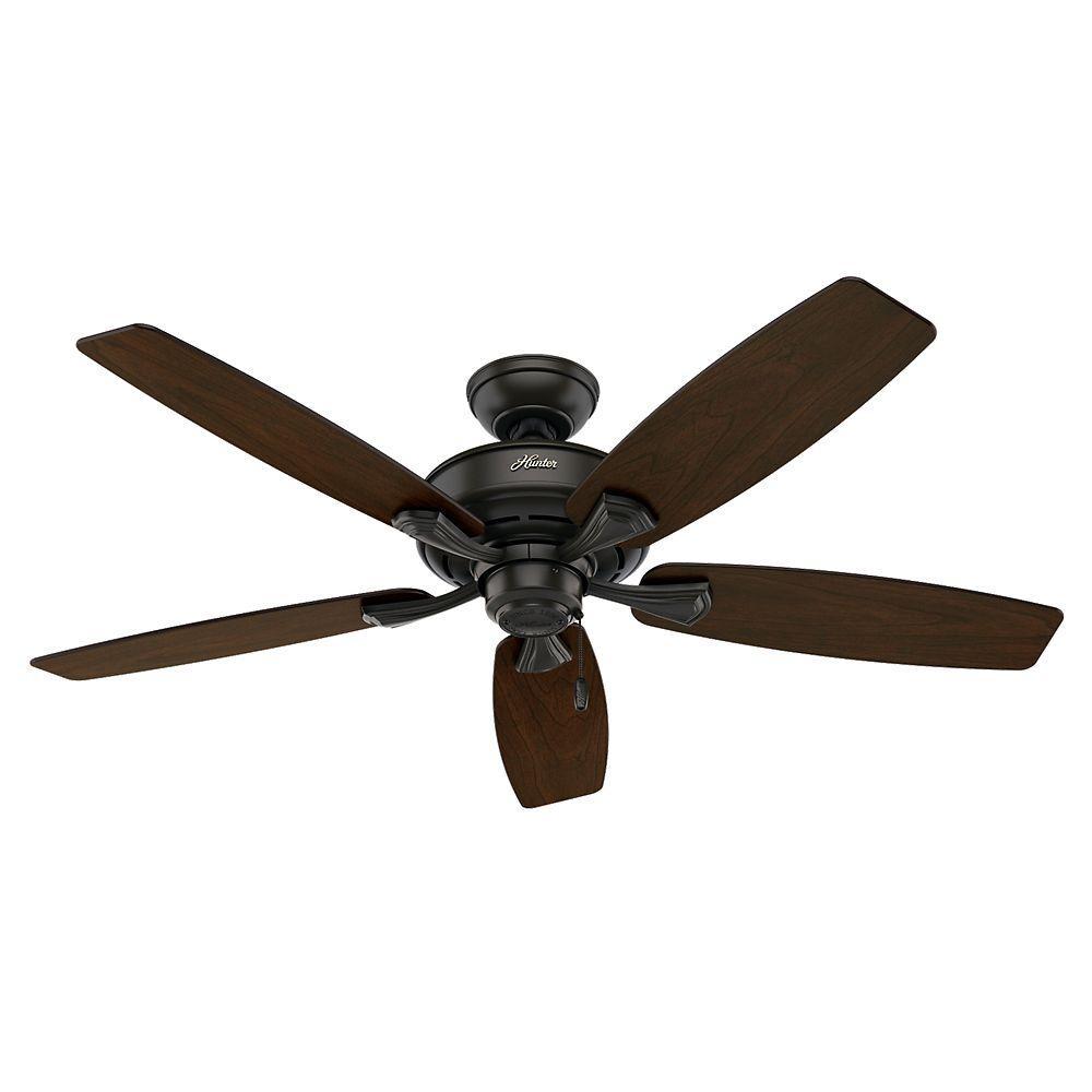 +15. Hunter Belmor 52 in. Indoor New Bronze Ceiling Fan ...