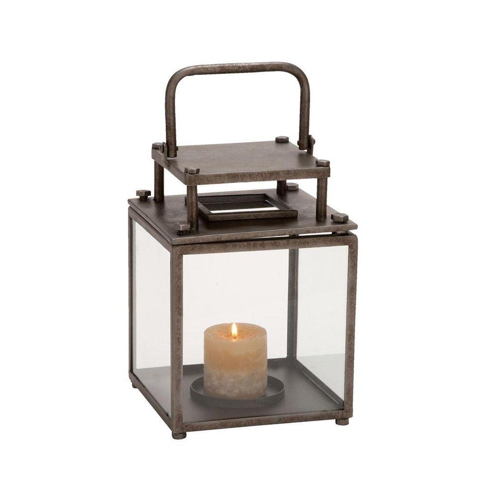 Home Decorators Collection 8 in. W Grant Bronze Lantern