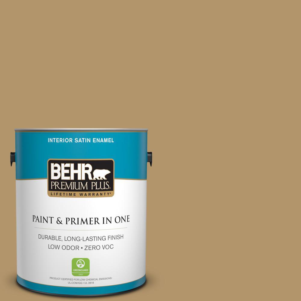1-gal. #BNC-15 Tapestry Gold Satin Enamel Interior Paint