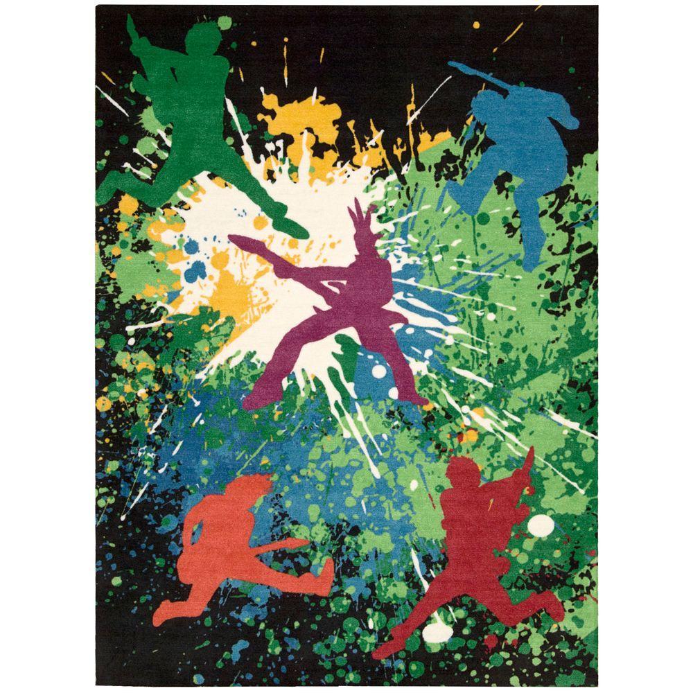 Nourison Overstock Altered States Rock Star Multicolor 8