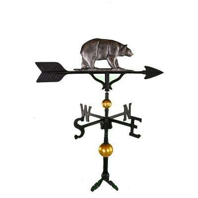 32 in. Deluxe Swedish Iron Bear Weathervane