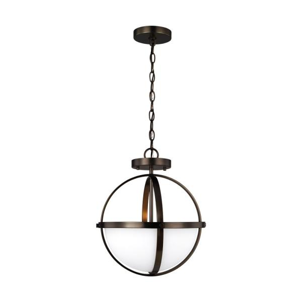 Oil Rubbed Bronze Dimmable LED Convertible Semi Flush//Chandelier//Pendant