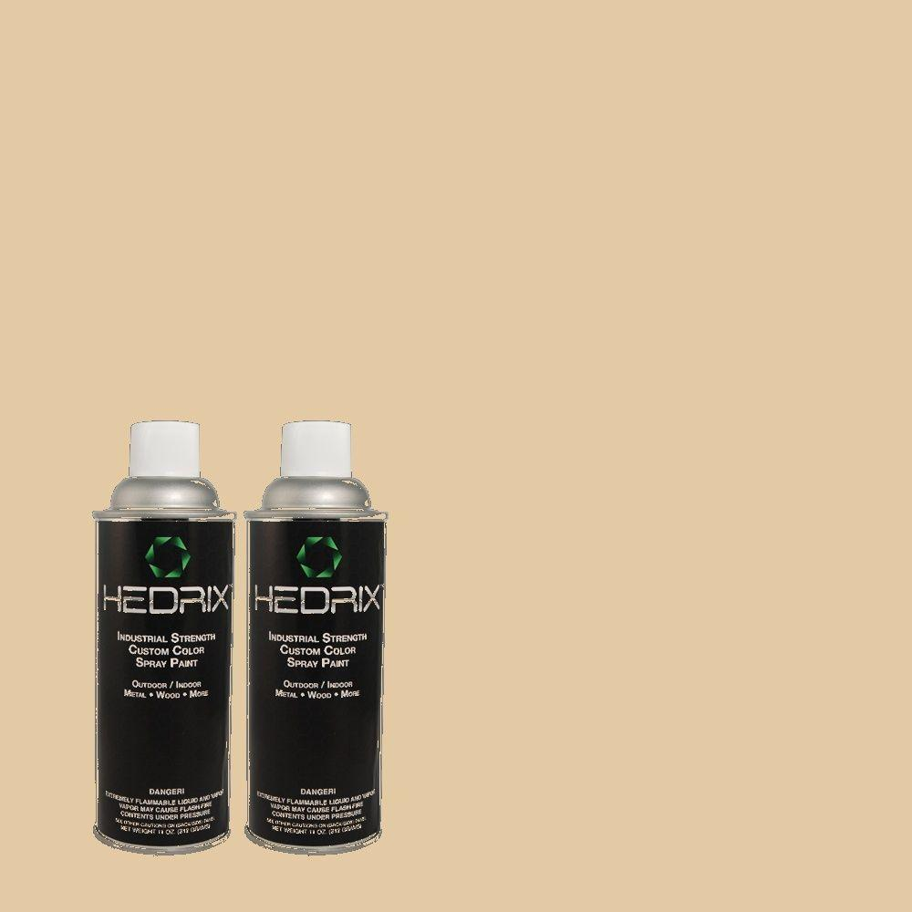 Hedrix 11 oz. Match of PPU4-13 Sand Motif Semi-Gloss Custom Spray Paint (2-Pack)