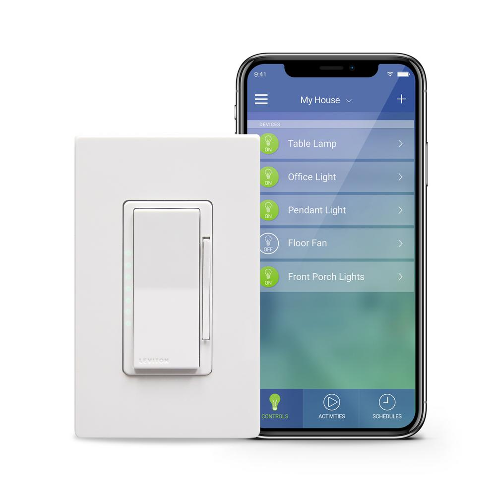 Leviton Decora Smart Wi Fi 600w Incandescent 300w Led Dimmer No Hub Rapid Wiring Diagram Required