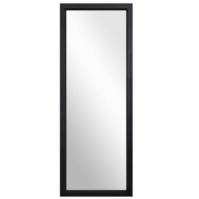 44 in. x 16 in. Black Modern Frame Classic Rectangle Full Length on the Door Mirror/Wall Mirror