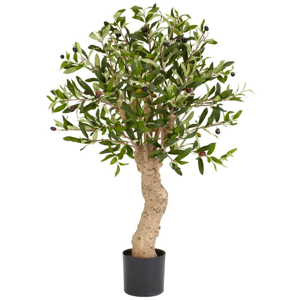 2.5 ft. Green Olive Silk Tree
