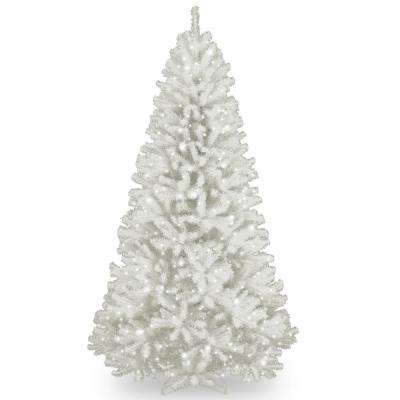 7.5 ft. North Valley White Spruce Artificial Christmas Tree with Clear Lights