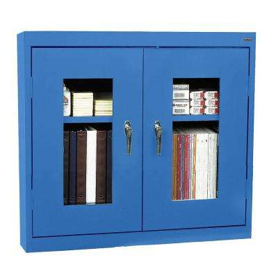 30 in. H x 36 in. W x 12 in. D Clear View Wall Cabinet in Blue