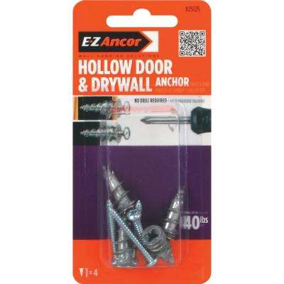 1-1/4 in. Hollow Door and Drywall Anchors (4-Pack)