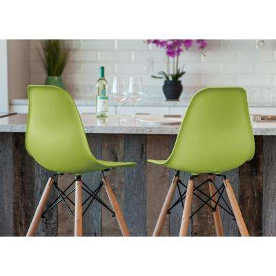 43 in. Green  Bar Stool  (Set of 2)