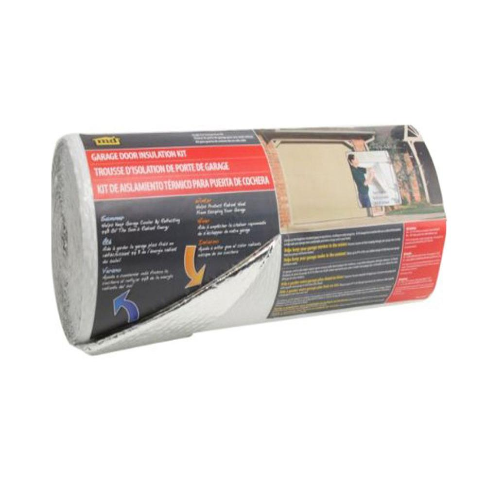 22 in. x 40 ft. Silver/White Garage Door Insulation Kit