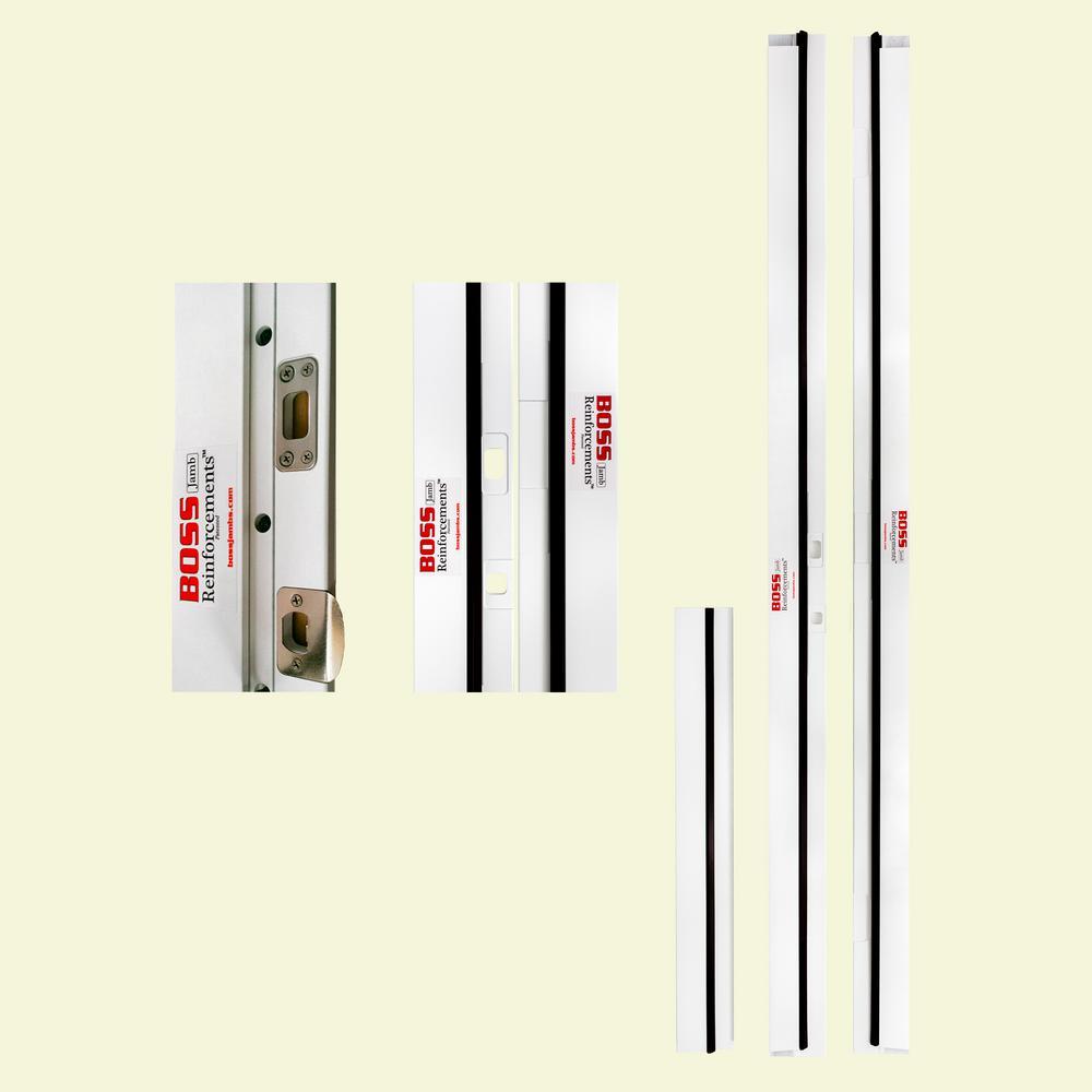 BOSS 1-1/4 in. x 4-9/16 in. x 83 in. PVC Jamb Moulding Right-Hand Inswing Break-In Resistant Exterior Door Frame Kit