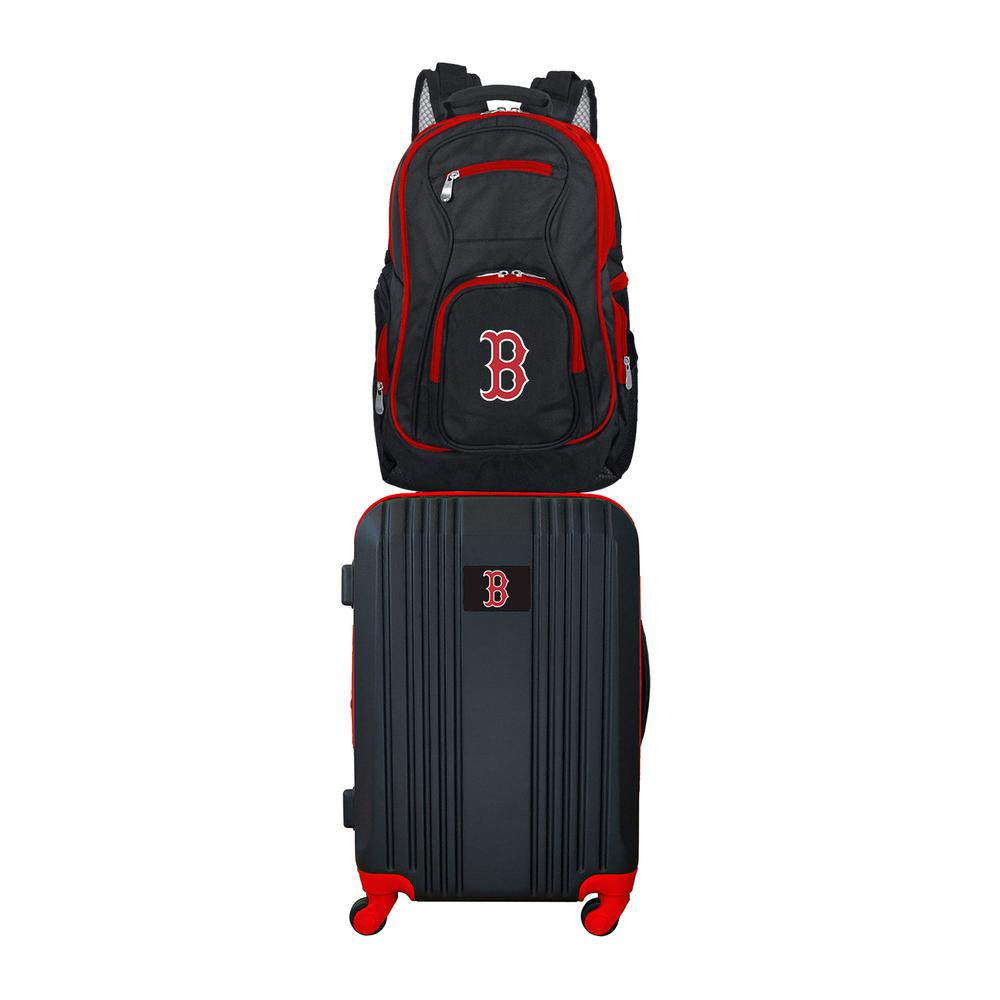 MLB Boston Red Sox 2-Piece Set Luggage and Backpack