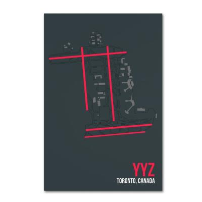"""22 in. x 32 in. """"YYZ ATC"""" by 08 Left Canvas Wall Art"""