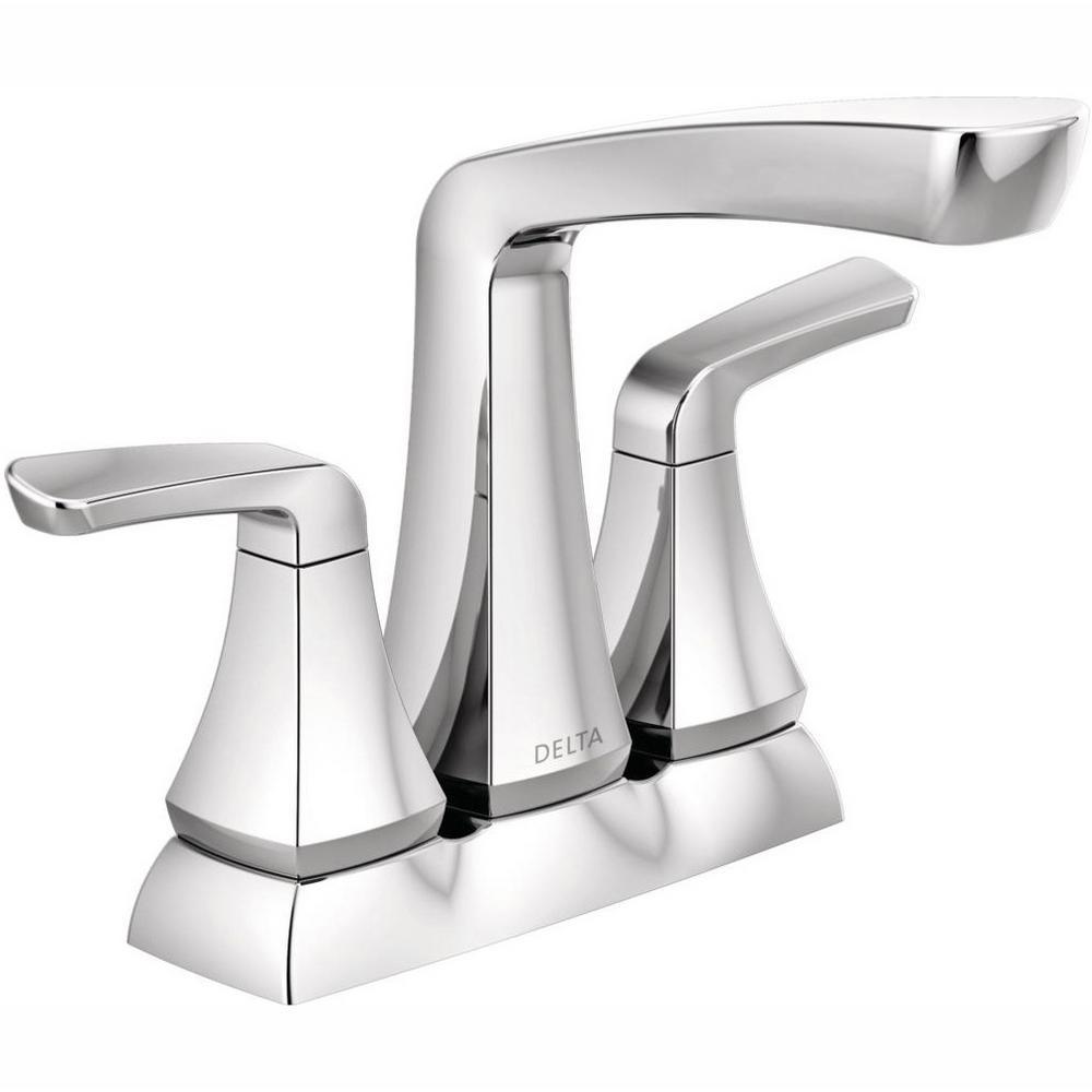Vesna 4 in. Centerset 2-Handle Bathroom Faucet in Chrome