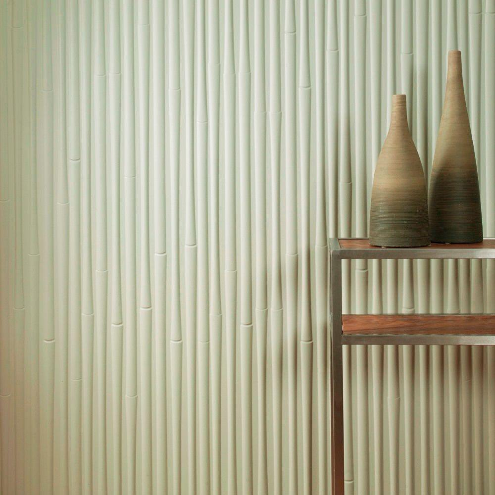Fasade 96 in x 48 in bamboo decorative wall panel in fern s59 36 bamboo decorative wall panel in brushed amipublicfo Gallery