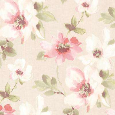 56.4 sq. ft. Lynette Rose Watercolour Floral Wallpaper