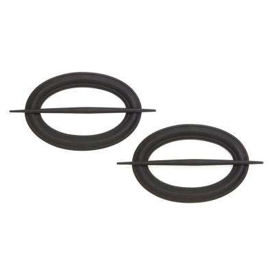 Decorative Hairpin Holdback for Curtains and Drapes, Matte Black (Set of 2)