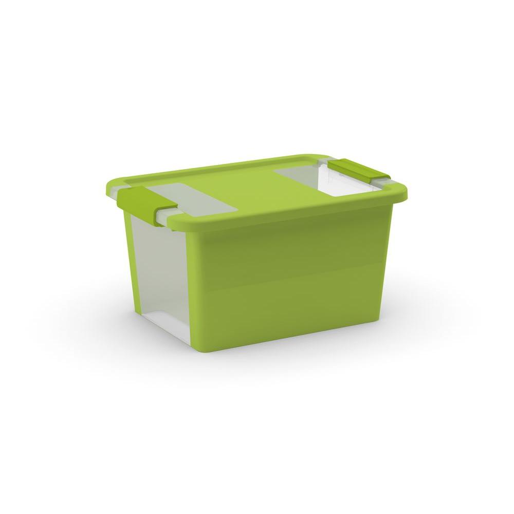11.9 Qt. Latching Storage Tote in Green