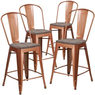 24 in Copper Bar Stool (Set of 4)