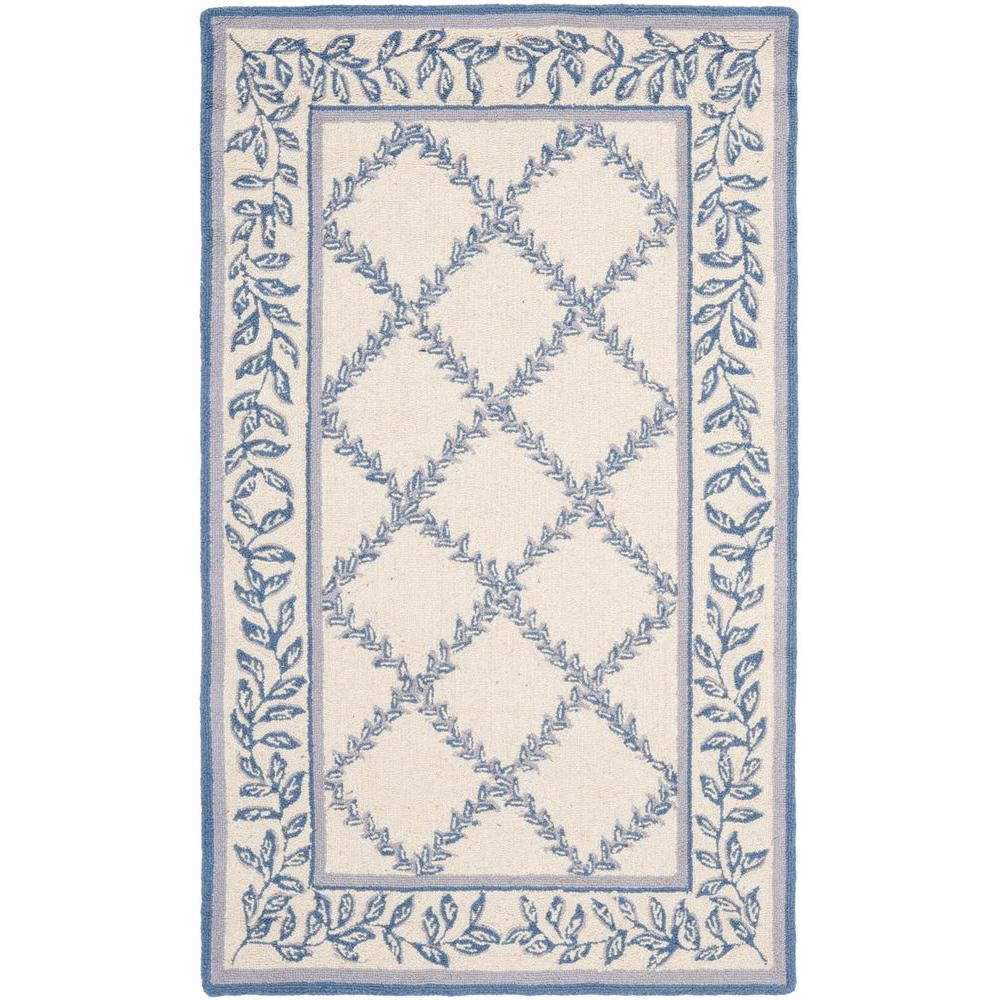 Chelsea Ivory/Light Blue 3 ft. 9 in. x 5 ft. 9
