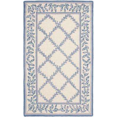 Chelsea Ivory/Light Blue 3 ft. 9 in. x 5 ft. 9 in. Area Rug