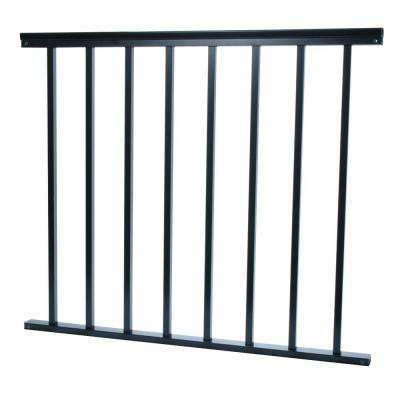 3/4 in. x 38 in. x 36 in. Aluminum Black Baluster Railing