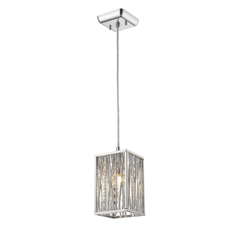 Filament Design Zander 1 Light Chrome Mini Pendant Cli