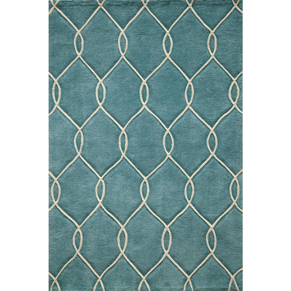 Bliss Teal 5 ft. x 7 ft. 6 in. Indoor Area