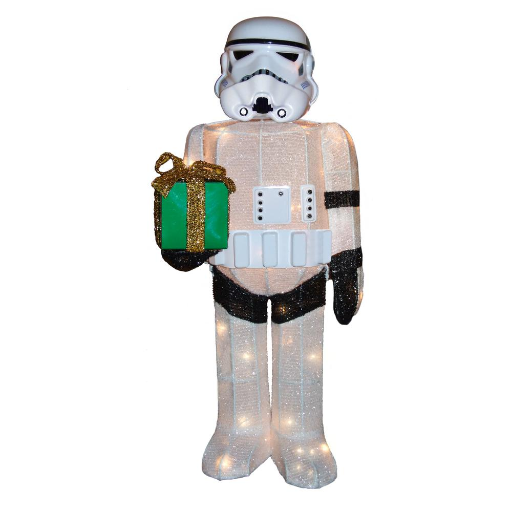 Kurt s adler 36 in star wars storm trooper yard decor for Home depot christmas decorations for the yard